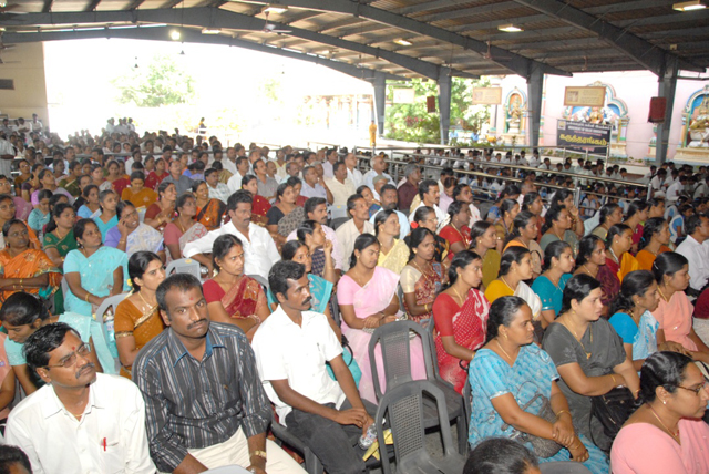 Large gathering of teachers attended the function